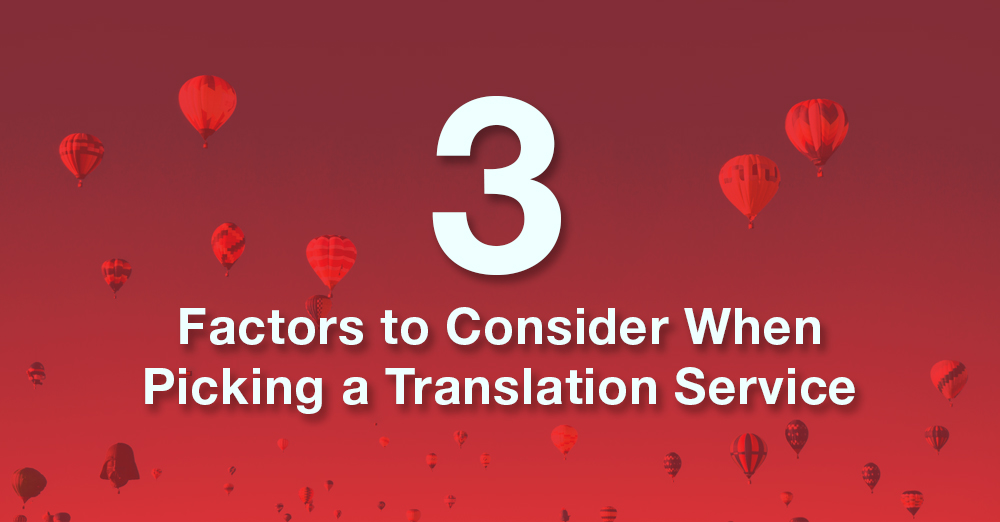 picking a translation service